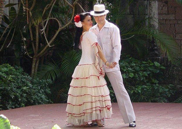Cuban dancers performing. Cuban sounds and rhythms, provide the backdrop for ...
