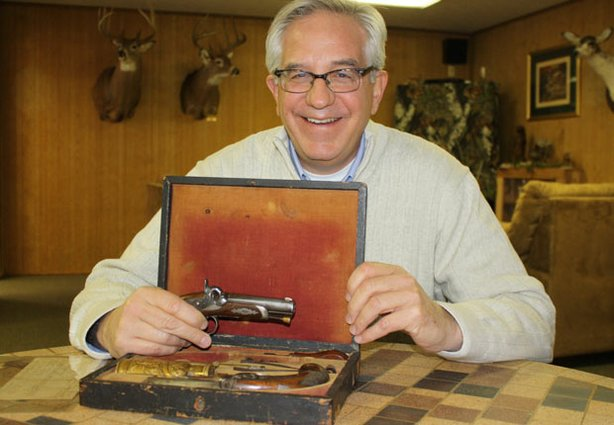 HISTORY DETECTIVES host, Wes Cowan, investigates in his own home state the history of these matching Civil War era pistols and hunts down the mystery behind the original owner.