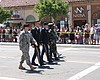 Military Marchers Wearing Uniforms Cheered At Gay Pride Parade