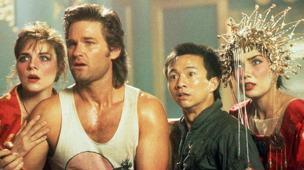 "Kim Cattrall, Kurt Russell, Dennis Dun, and Suzee Pai in John Carpenter's ""Bi..."
