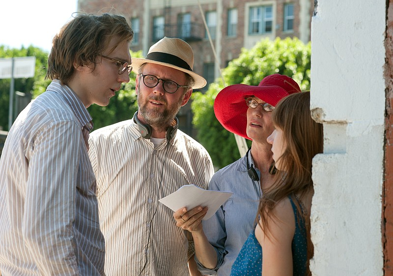 Co-directors Jonathan Dayton and Valerie Faris flanked by actor Paul Dano and...