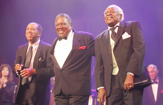 Ben E. King, Charlie Thomas and Bill Pinkney, all lead singers of the origina...