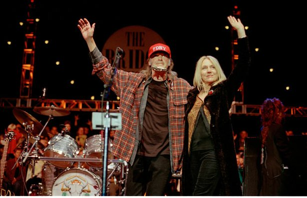 Every year, musician Neil Young and his wife Pegi (pictured on stage), organi...