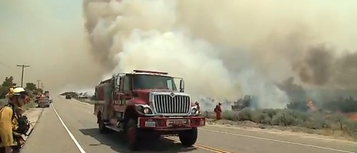 Nearly 1,500 firefighters were battling the Vallecito Complex Fires from the ...