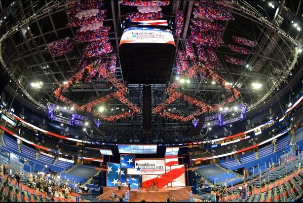The floor at the Tampa Bay Times Forum is set Aug. 26 for the Republican National Convention.