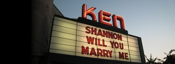 The Ken marquee has been used for birth announcements and wedding proposals a...