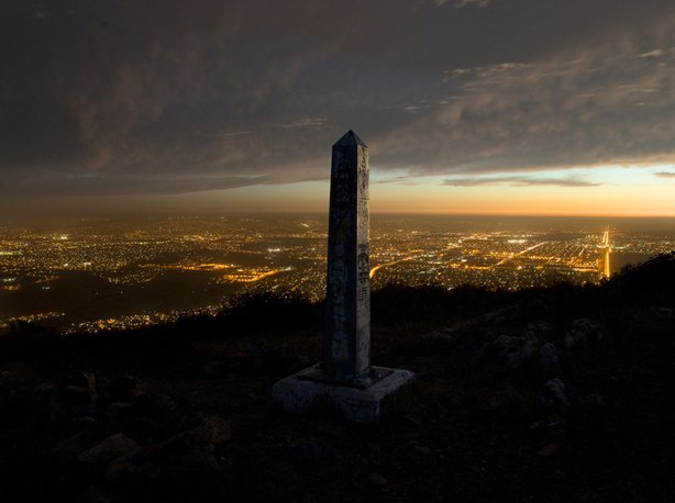 "Photographer David Taylor's ""Border Monument No. 251: 32 degrees 33.383 minut..."