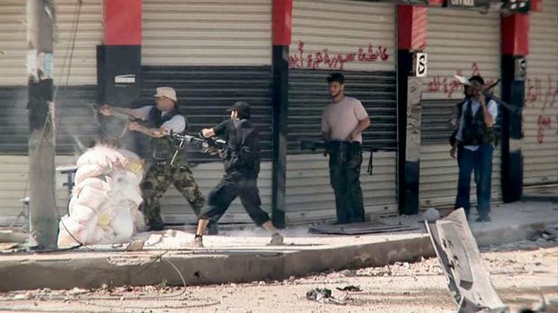 Rebel forces wage a street-by-street assault on the forces of President Basha...
