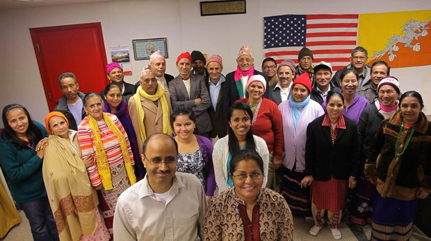 Birendra Dhakal and the Bhutanese Citizenship Class.