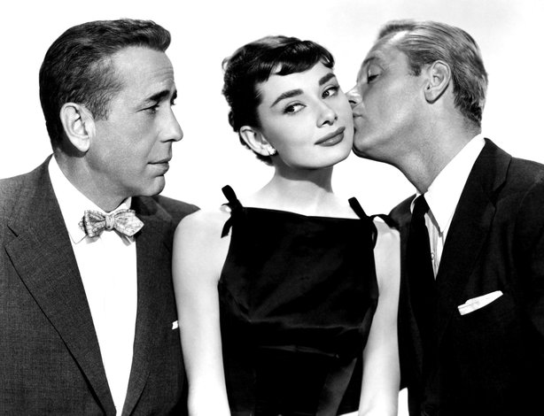 "Humphrey Bogart, Audrey Hepburn, and William Holden star in Billy Wilder's ""S..."
