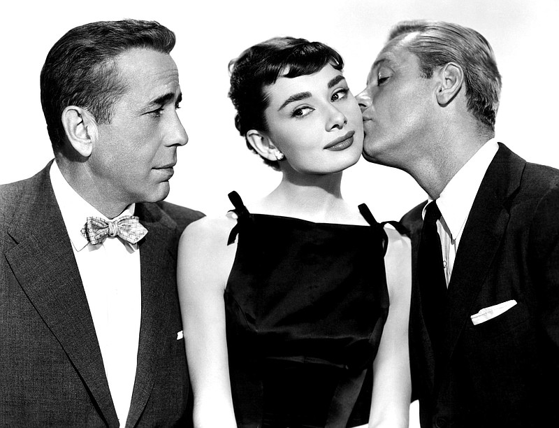 Humphrey Bogart, Audrey Hepburn, and William Holden star in Billy Wilder's