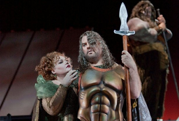 "Stephanie Blythe as Fricka and Bryn Terfel as Wotan in Wagner's ""Das Rheingol..."