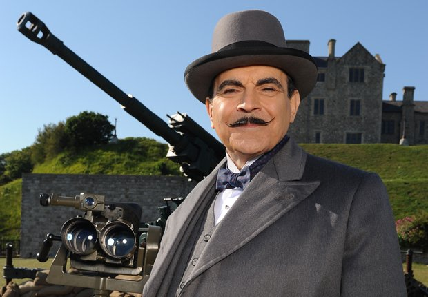 David Suchet returns as suave Belgian super sleuth Hercule Poirot in three my...