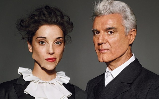 Musicians St. Vincent and David Byrne are touring in support of their first c...