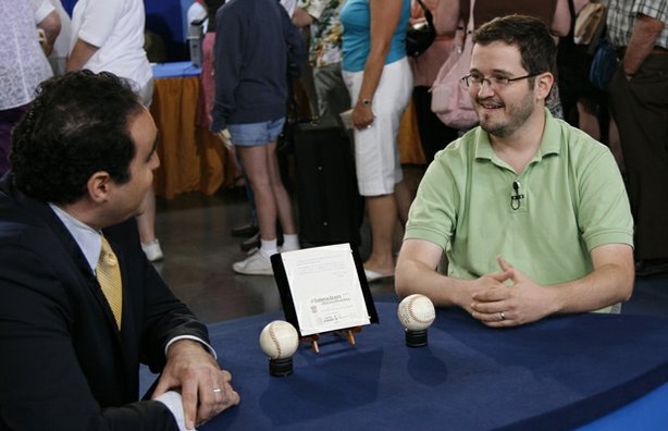 At ANTIQUES ROADSHOW in Milwaukee, Wisconsin, appraiser Simeon Lipman of Heri...