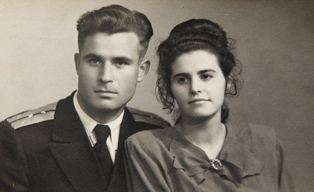 Vasili Arkhipov and wife Olga Arkhipova. Collection of photos of Brigade Chie...