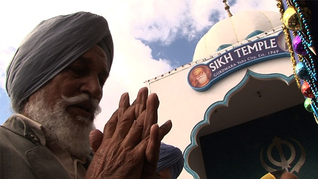 A Sikh man prays. The public television special,