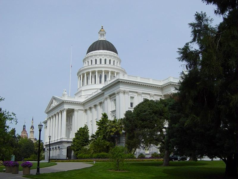 The California capitol building is shown in this undated photo.