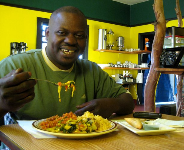 June Owino, owner and chef at Flavors of East Africa. His restaurant is participating in San Diego's first African Restaurant week.