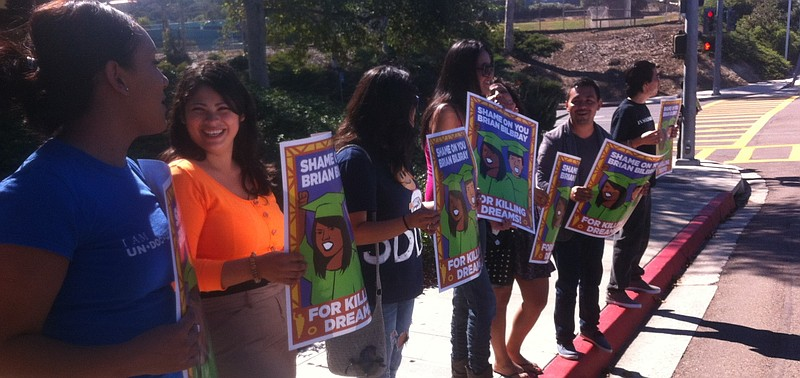 Supporters of the DREAM Act, which would give many young undocumented immigra...