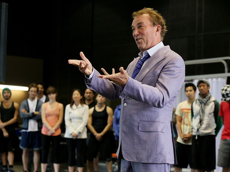 Des McAnuff and the cast in rehearsal for La Jolla Playhouse's world-premiere...