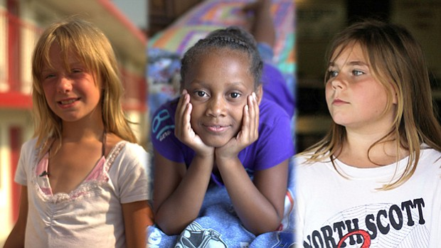 FRONTLINE spent months following three young girls, (l-r) Kaylie, Jasmin and ...