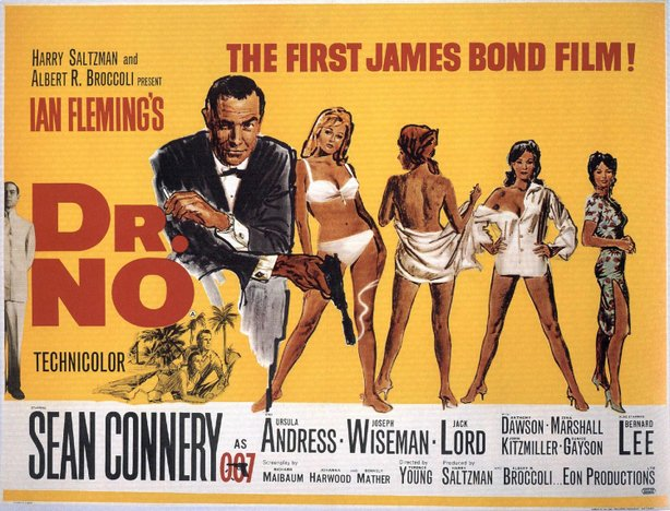 "The poster for the first Bond movie, ""Dr. No"" in 1962."
