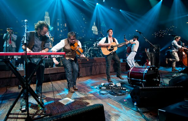 "Mumford & Sons perform cuts from their hit album ""Sigh No More,"" as well as n..."
