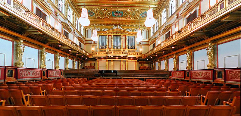 Golden Hall of the Musikverein in Vienna, October 2005.