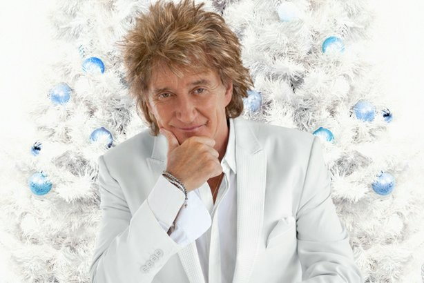 Legendary rocker Rod Stewart's (pictured) first solo holiday special features...