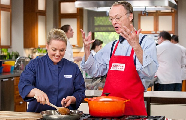 Test kitchen cook Julia Collin Davison and AMERICA'S TEST KITCHEN host Christ...