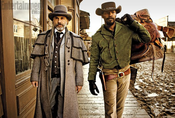 "Christoph Waltz and Jamie Foxx star in Quentin Tarantino's ""Django Unchained,..."