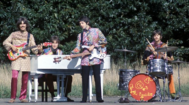 "The Beatles perform ""I Am The Walrus"" for the film ""Magical Mystery Tour."""