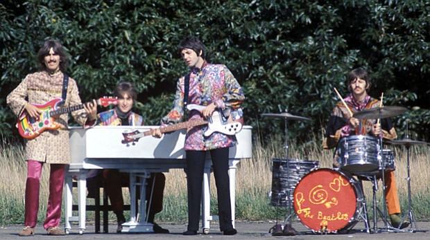 The Beatles perform