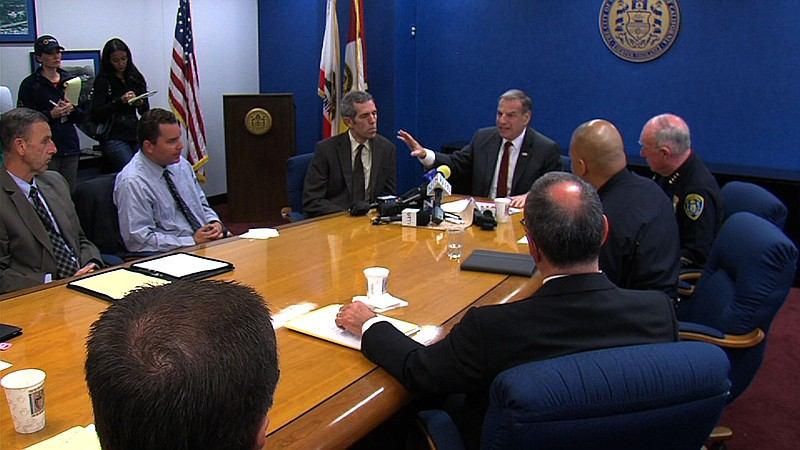 San Diego leaders gather at City Hall to discuss school safety in the wake of...