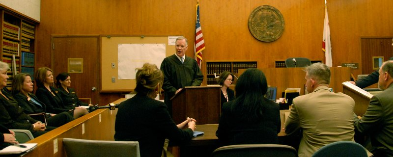 San Diego Superior Court Judge Roger Krauel presiding at the San Diego Vetera...