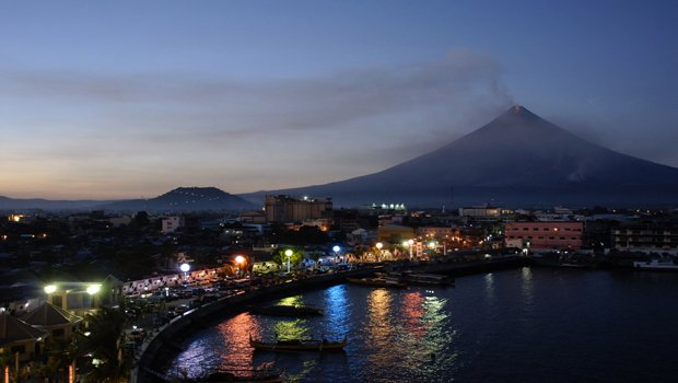 The town of Gilazpi was evacuated when Mayon Volcano erupted in December 2009...