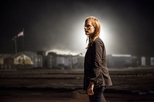 "Jessica Chastain stars as a CIA agent at the center for the hunt for Osama Bin Laden in ""Zero Dark Thirty."""
