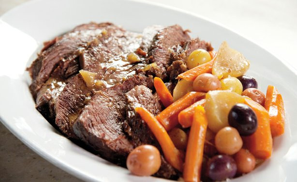Martha Stewart shows which cuts of meant are ideal for braising, sharing a recipe for classic pot roast (pictured).