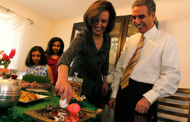 An Iranian American family celebrates the Persian holiday of Nowruz.