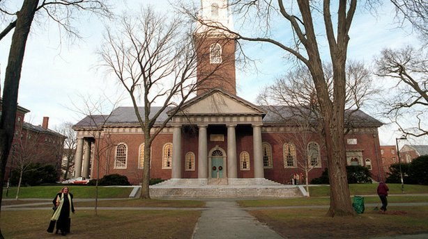 Top schools like Harvard, seen here in 2000, often offer scholarships and oth...