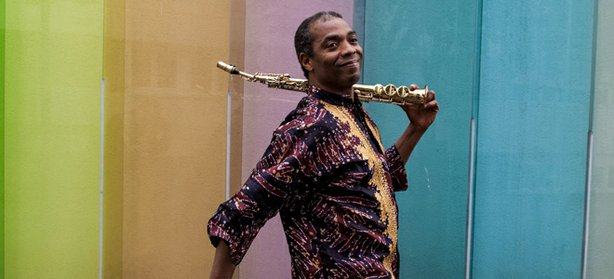 Femi Kuti, the eldest son of Afrobeat legend Fela Kuti, plays the Belly Up Th...