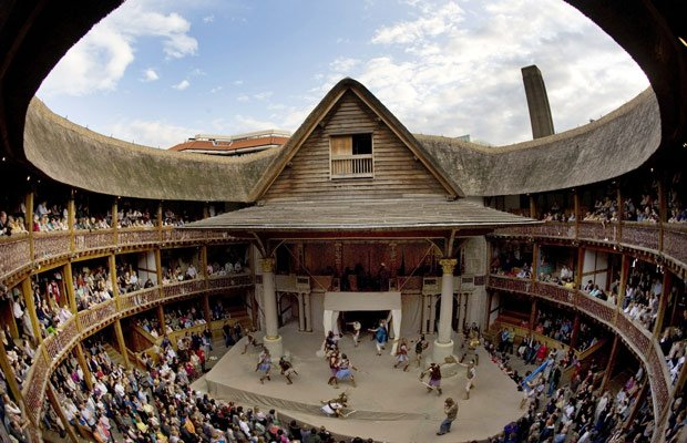 Shakespeare's Globe Theater, London, Britain, July 14, 2009.
