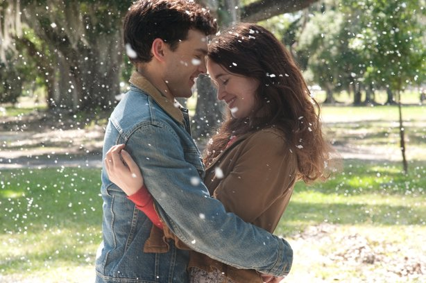 "Alden Ehrenreich and Alice Englert star in the supernatural love story, ""Beautiful Creatures."""