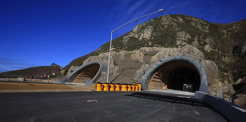 Devil's Slide Tunnels Project is two tunnels beneath San Pedro Mountain, each...