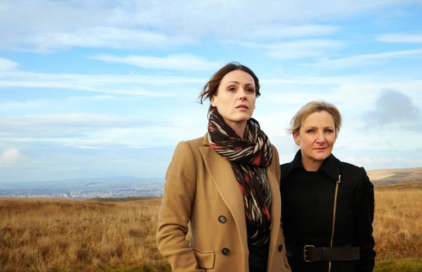 Suranne Jones as Detective Constable Rachel Bailey and Lesley Sharp as Detective Constable Janet Scott in SCOTT & BAILEY.
