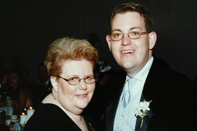 Charles Ornstein with his mother Harriet Ornstein on his wedding day, weeks a...