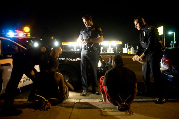 Gang suppression officers arrest documented gang members during a March 2010 ...