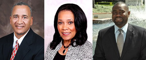 Barry Pollard, Myrtle Cole and Dwayne Crenshaw, three of the candidates for S...