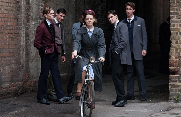 Jessica Raine as Jenny Lee and supporting actors as the Teddy Boys in CALL TH...